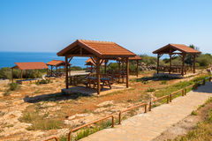 Picnic site on Cape Greco Royalty Free Stock Images