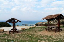 Picnic site by the sea royalty free stock photos