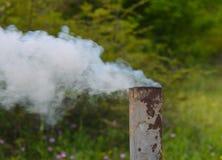 Picnic, smoking samovar pipe Stock Photography