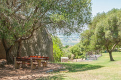 Picnic spot at the Afrikaans Language Monument Stock Photography