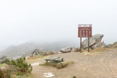 Picnic spot in the clouds on the historic Swartberg Pass Royalty Free Stock Images