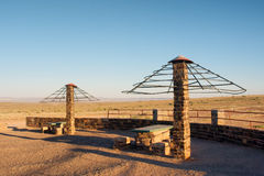 Picnic spot in desert Stock Image