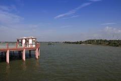 Picnic spot of gorakhpur. Clean water lake of gorakhpur uttar pradesh India royalty free stock image