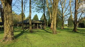 Picnic spot in a park. Picnic spot insade blue lake park Vancouver Washington royalty free stock photography