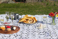 Picnic spread Stock Photography