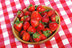 Picnic Strawberries Stock Images