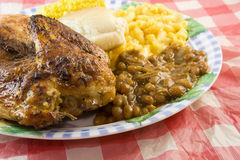 Picnic style BBQ chicken Royalty Free Stock Photos