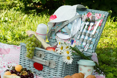Picnic in the style of shabby chic.  Royalty Free Stock Photo