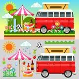 Picnic Summer TimeSummer Picnic 3D Flat Set Royalty Free Stock Image