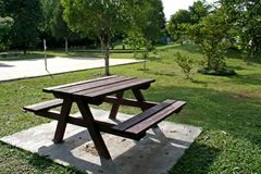 Picnic table. In the park Stock Images