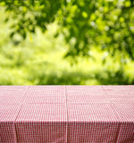 Picnic table background Stock Photos
