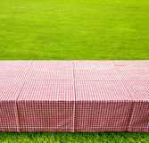 Picnic table background Royalty Free Stock Photos