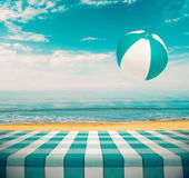 Picnic Table at the Beach Royalty Free Stock Photo