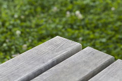 Picnic table close-up Royalty Free Stock Images