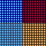 Picnic table cloth. Color square plaid pattern.  Geometrical traditional ornament for fashion textile, cloth, backgrounds. Vector Stock Photos