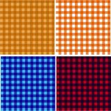 Picnic table cloth. Color square plaid pattern.  Geometrical traditional ornament for fashion textile, cloth, backgrounds. Vector Royalty Free Stock Photos