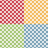 Picnic table cloth seamless pattern set. Picnic plaid texture. Vector vector illustration