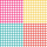 Picnic table cloth seamless pattern set. Picnic plaid texture Stock Photo