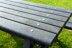 Picnic table details Stock Photography