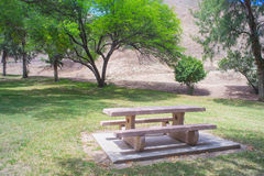 Picnic Table at Empty Park Royalty Free Stock Photo