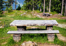 Picnic table Royalty Free Stock Photo