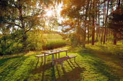 Picnic table Royalty Free Stock Photography