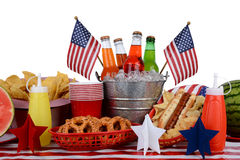 Picnic Table Fourth of July Theme Stock Image