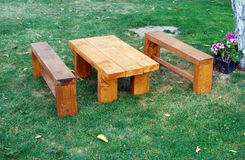Picnic table for kids Stock Photography