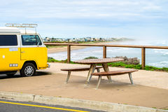 Picnic table at Middleton Beach Stock Image