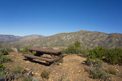 Picnic Table in Mountains Royalty Free Stock Images