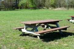 Picnic table in park. Picnic table in out door park Stock Photo