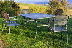 Picnic table outdoor Royalty Free Stock Images