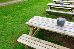 Picnic table in the Park Stock Image