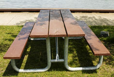 Picnic table in park Stock Photos