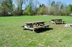 Picnic table in park. Picnic table in out door park Stock Image