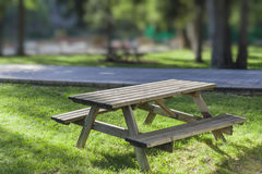 Picnic table in park Royalty Free Stock Image