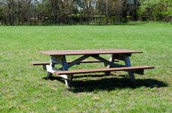 Picnic table in park. Picnic table in out door park Royalty Free Stock Photos