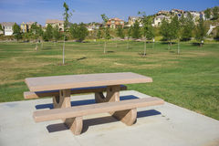 Picnic Table in Park Royalty Free Stock Photo
