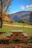 Picnic Table with view Stock Image