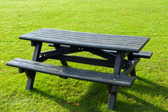 Picnic table. Wooden picnic table in a park Stock Photography