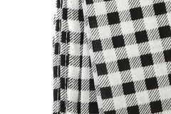 Picnic tablecloth checkered. Black and white picnic tablecloth checkered pattern Royalty Free Stock Photos