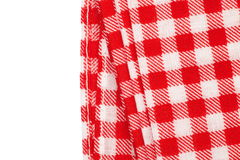 Picnic tablecloth checkered. Red and white picnic tablecloth checkered pattern Royalty Free Stock Photography