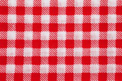 Picnic tablecloth checkered. Red and white picnic tablecloth checkered pattern Royalty Free Stock Photo