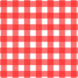 Picnic Tablecloth Pattern. A picnic tablecloth pattern design in red and white vector illustration