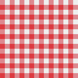 Vector picnic tablecloth pattern. Vector red picnic checkered tablecloth pattern Stock Photos
