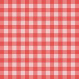 Picnic tablecloth. Red and white checkered tablecloth; Picnick tablecloth Royalty Free Stock Photos