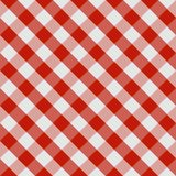Picnic tablecloth seamless checkered pattern in red and white tones. Vector image.  royalty free illustration