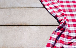 Picnic tablecloth on the table Royalty Free Stock Photos