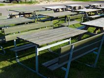 Picnic tables Stock Photography