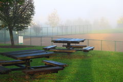 Picnic Tables Baseball Field Stock Images